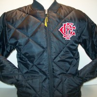 CFD Quilted Jacket Navy Letter Nest