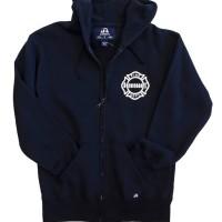 Chicago Fire Department CFD Navy Heavy Duty Full Zip Hoodie
