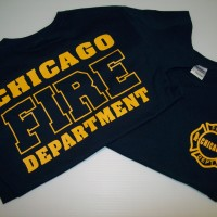 Chicago Fire TV Show Tee Nvy/Gld