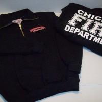 CFD Navy 1/4 Zip Youth Job Shirt