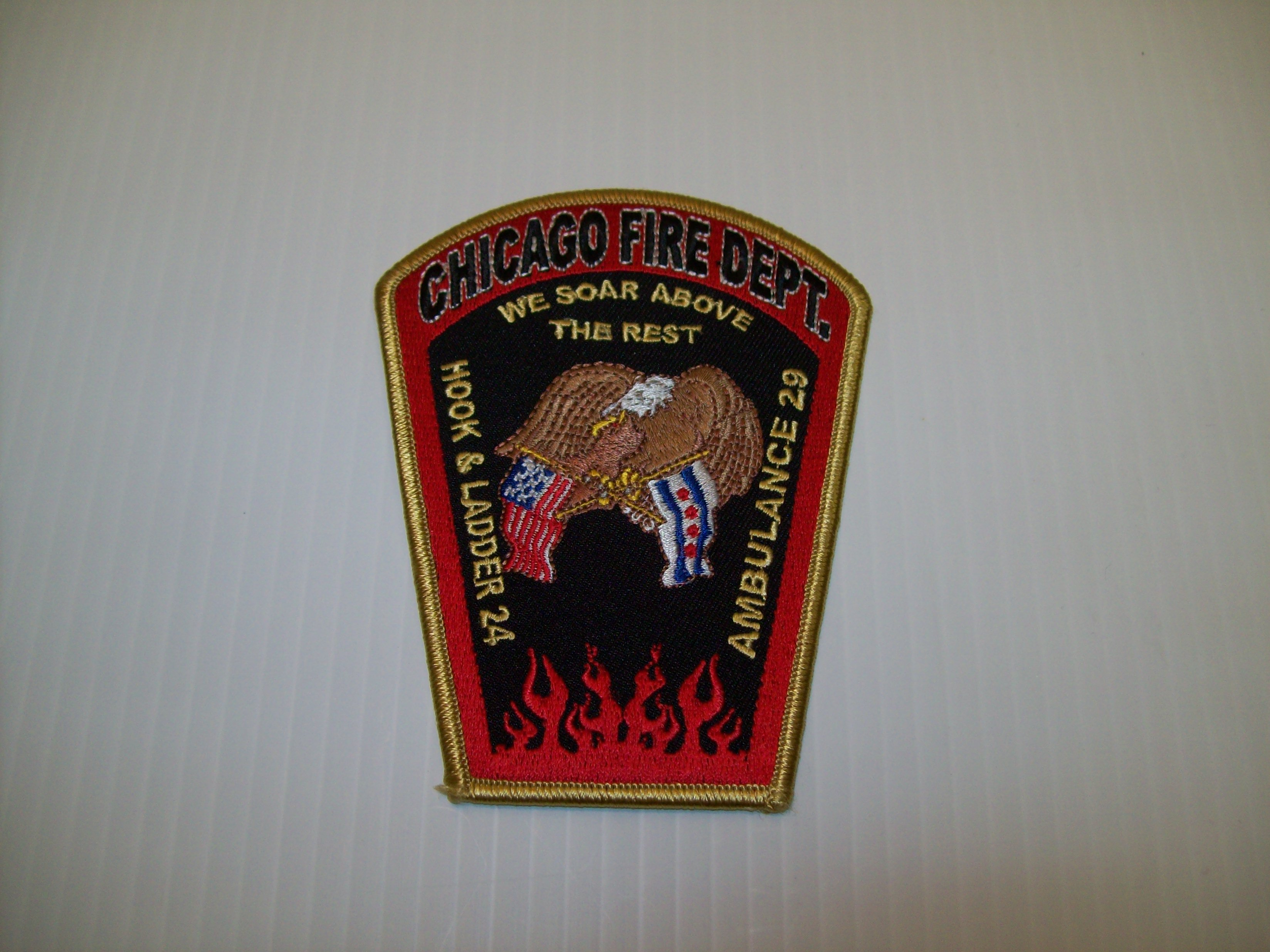 Chicago fire department hook and ladder 24 patch shraders goods chicago fire department hook and ladder 24 patch biocorpaavc Images