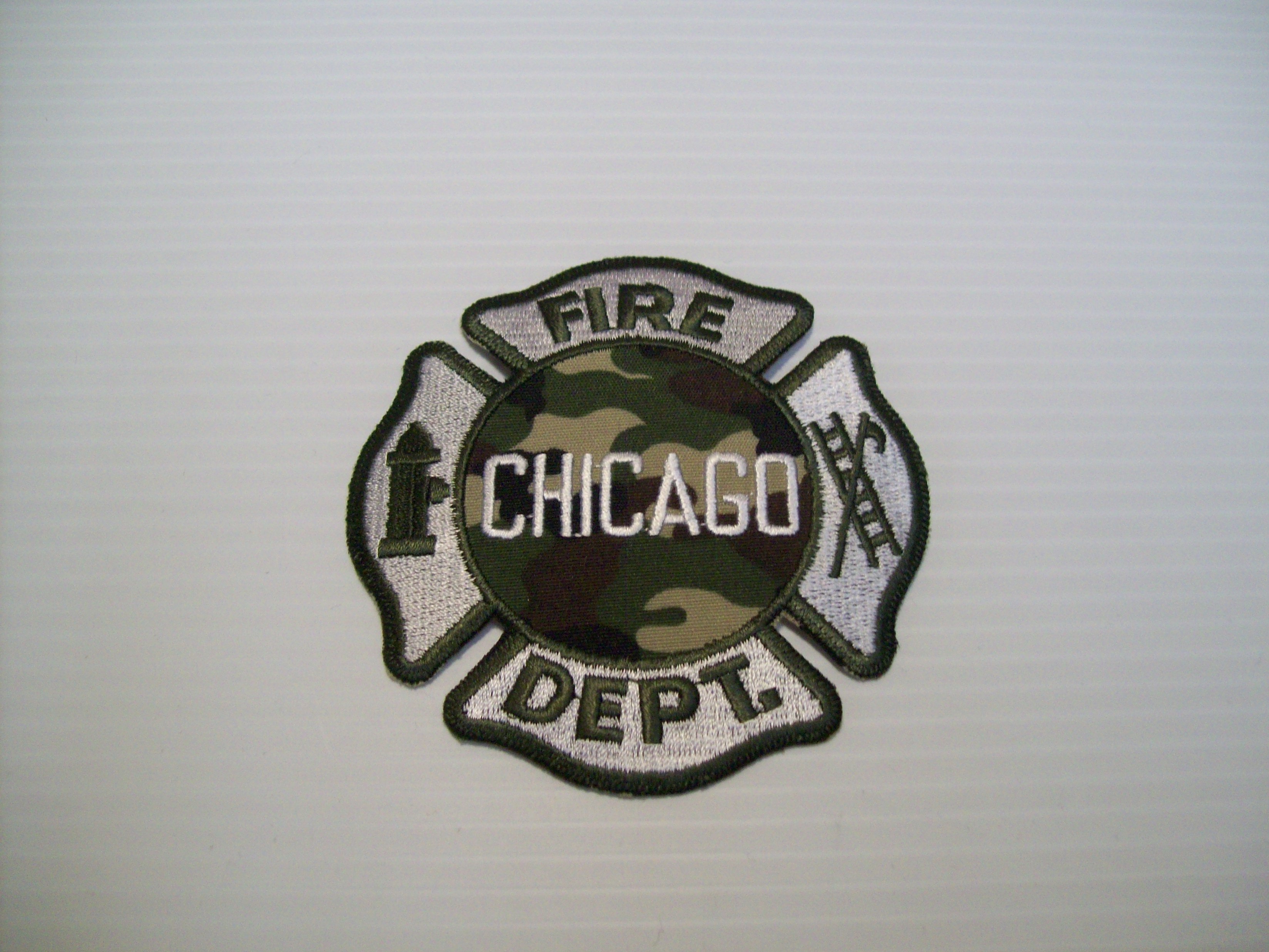 Chicago Fire Department Maltese Camo Green Shraders Goods