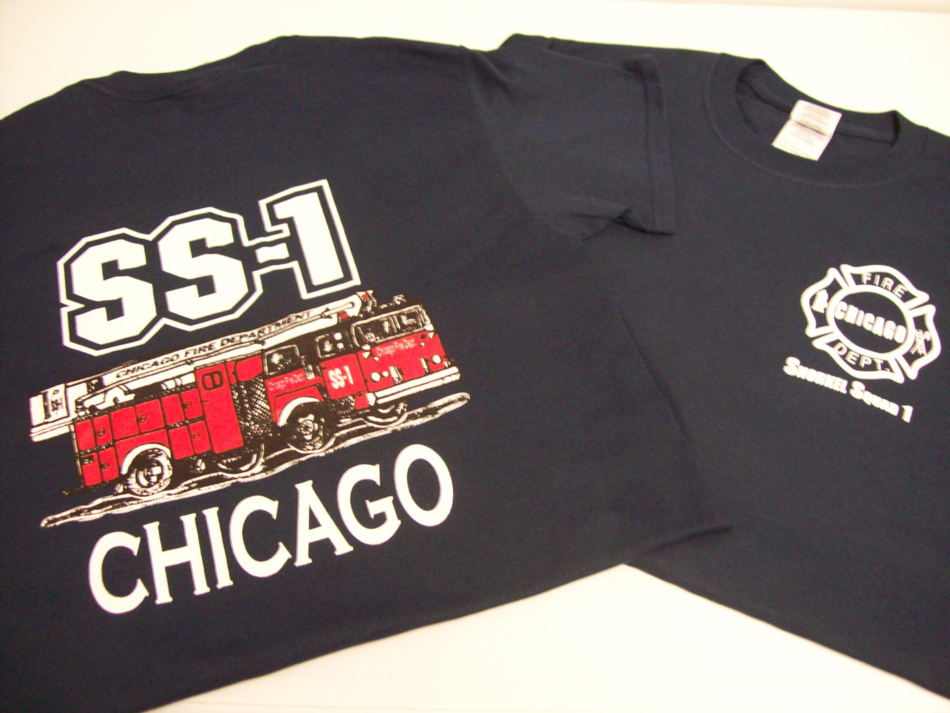 Chicago Fire Dept T-Shirt mit CFD Logo